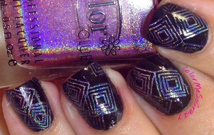 Geometric Stamping with Color Club Halo Hues for The Nail Challenge Collaborative.