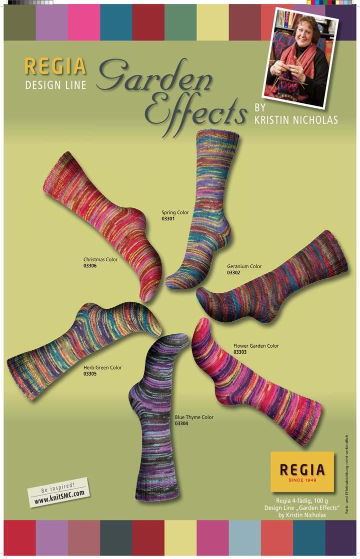 kristins garden effects sock yarn new from regia