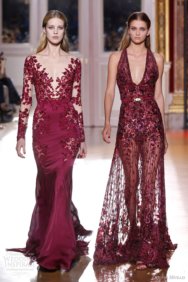 Trendsfor 2014 Zuhair Murad Fallwinter 2012 2013 Couture Collection Skin Flowers