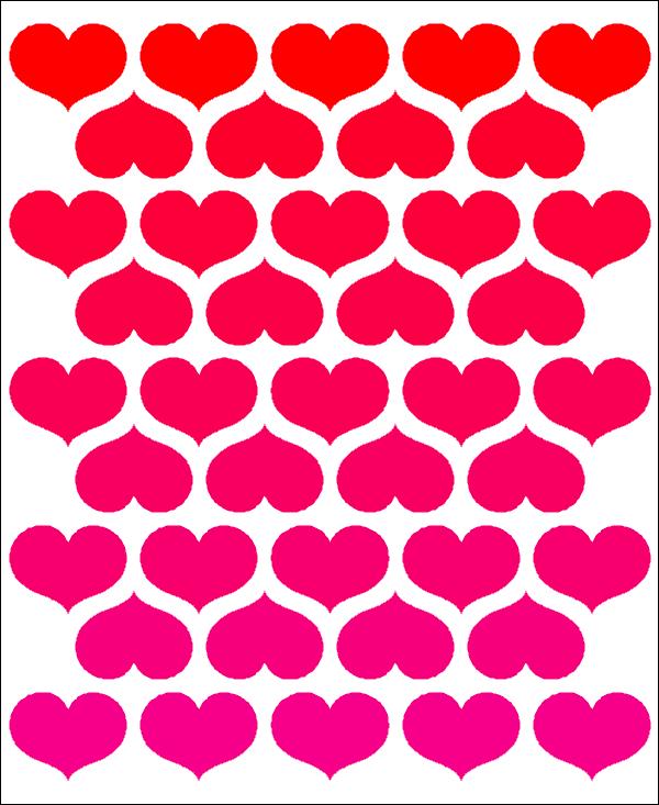 Half-Drop Heart quilt