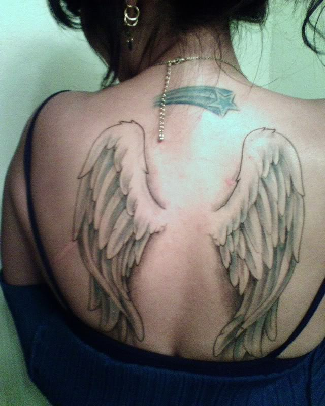 Wing Tattoos For Girls