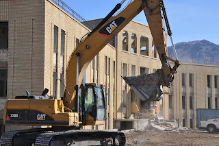The demolition of Lund Hall