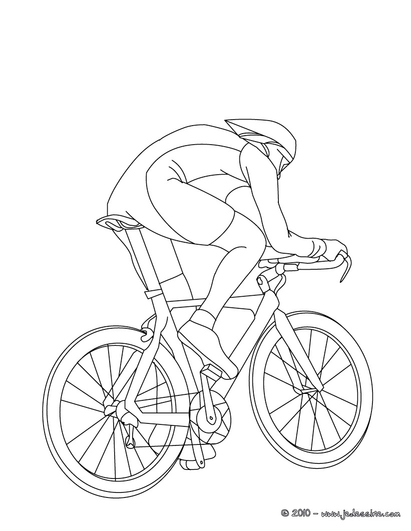 bike racing coloring pages - photo#12