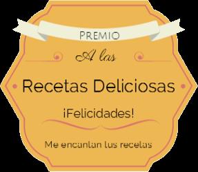 2 Premios a las Recetas deliciosas:¡ Gracias Wendy y Raquel !