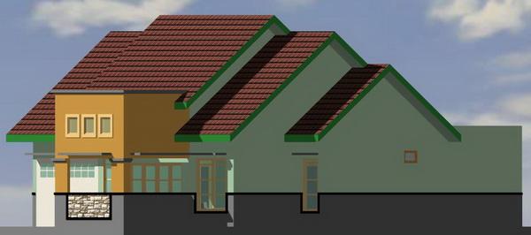 Type 135 contoh denah rumah
