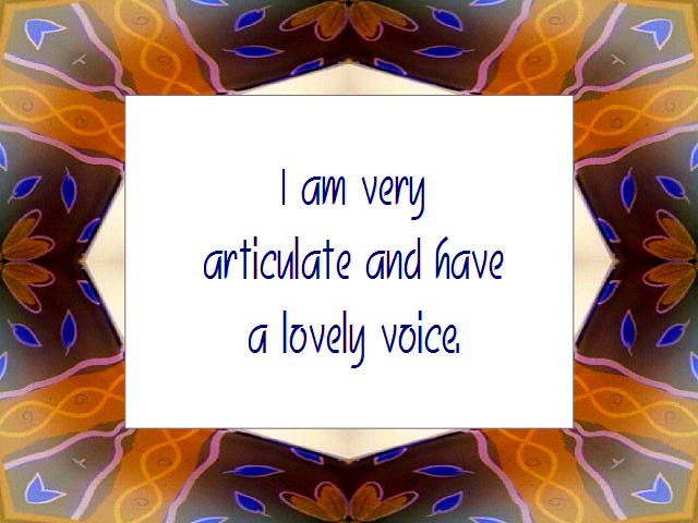 COMMUNICATION affirmation