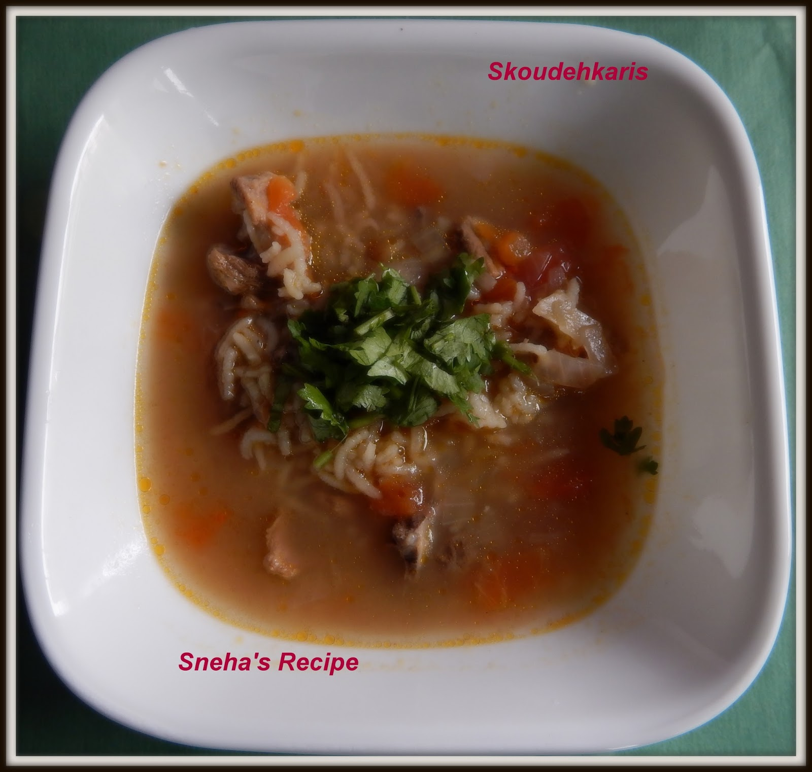 Skoudehkaris - Sneha's Recipe