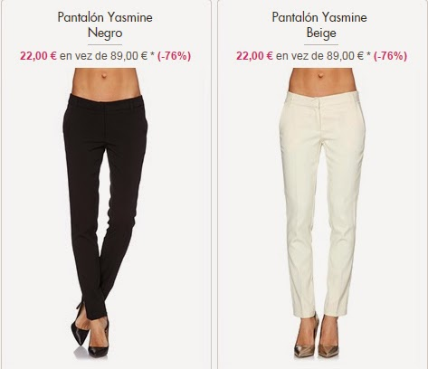 pantalones Yasmine 22 euros