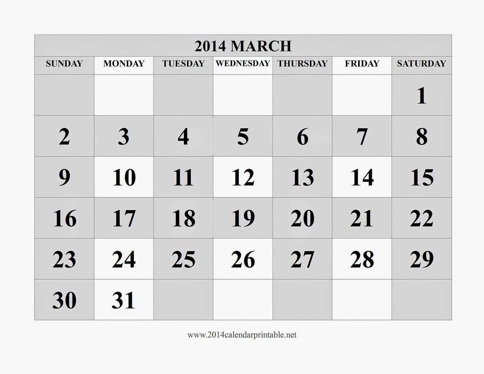 FREE IS MY LIFE: FREEISMYLIFE March 2014 Calendar - Don\'t You Just ...