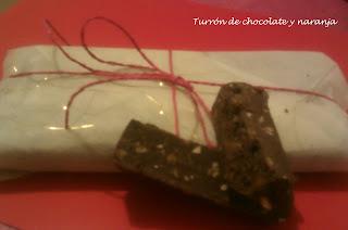 Turrón de chocolate a la naranja con Thermomix®
