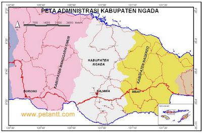 peta administrasi bajawa