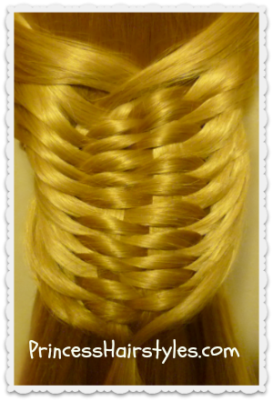 layered woven braid