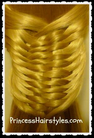 layered woven braid