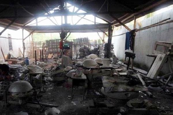 Lokasi Pabrik Wajan Tempat Bekerja Buruh Korban Penyekapan. Kotabumi Lampung Utara
