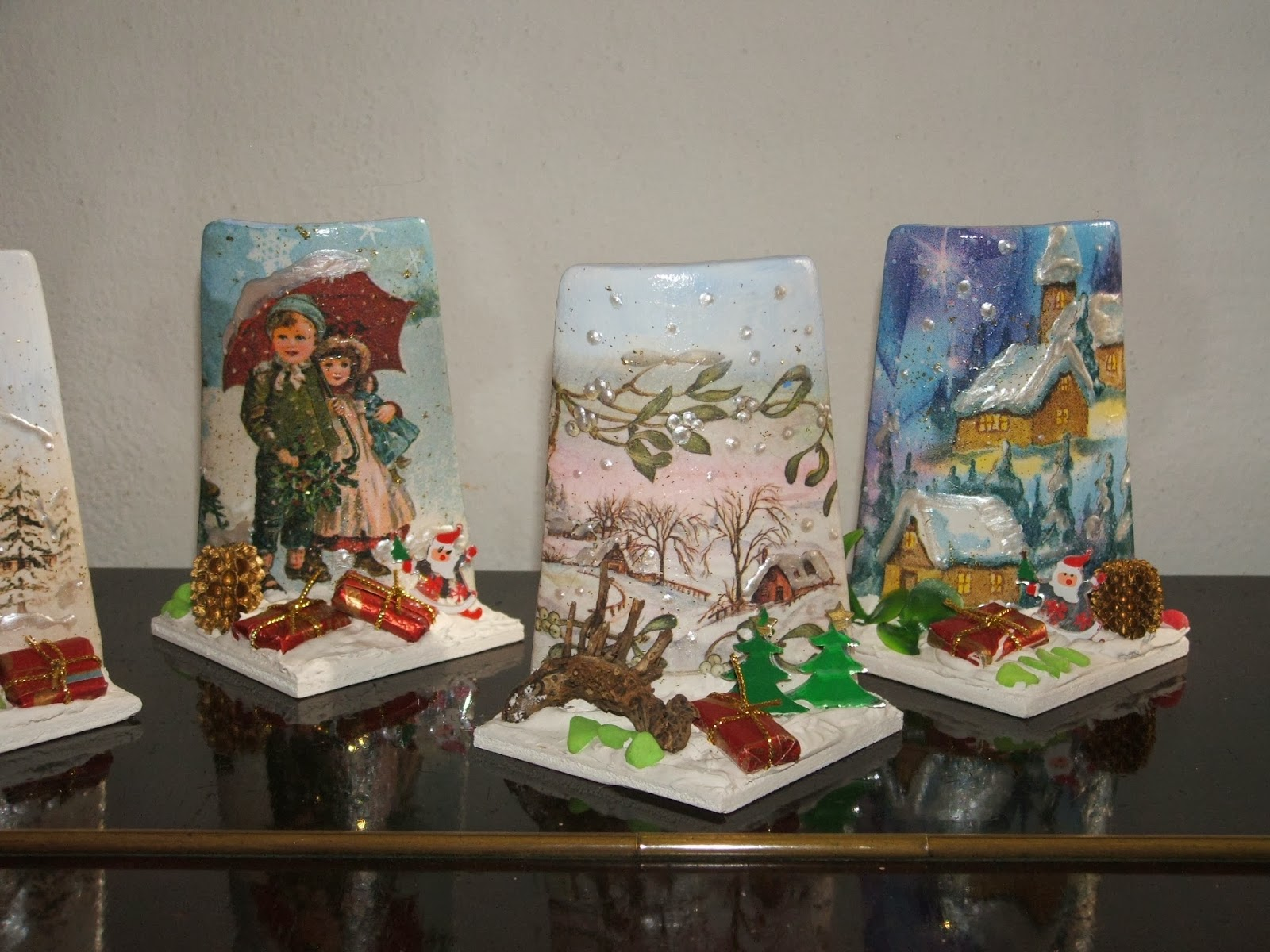 Tegole decorate con decoupage igufidienza - Tegole decorate ...