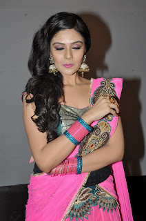Actress Sri Mukhi Pictures in Saree at Prema Ishq Kadhal Movie Audio Launch  0030.jpg