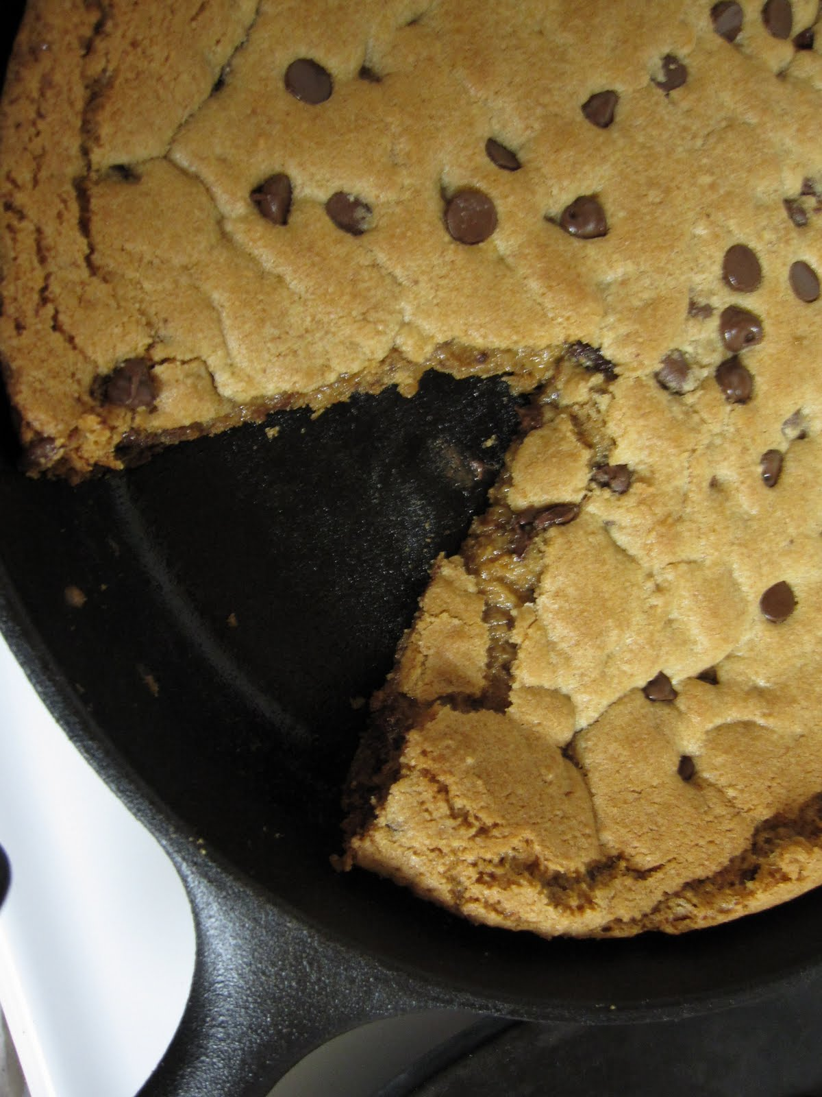 The Scratch Patch: Whole Wheat Chocolate Chip Skillet Cookie