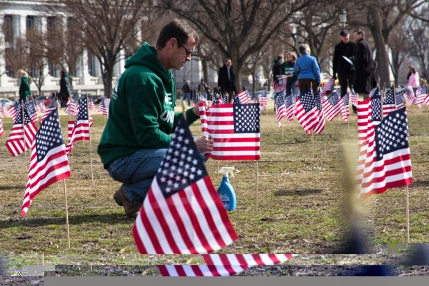 Military News - Flags display, Senate bill put focus on veteran suicides