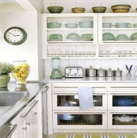 green and organised kitchen details
