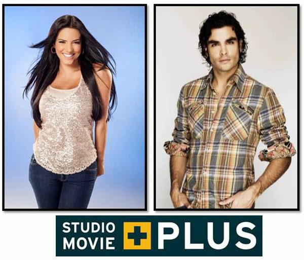 Gaby-Espino-Gonzalo-García-Vivanco-presentadores-Studio-Movie-Plus