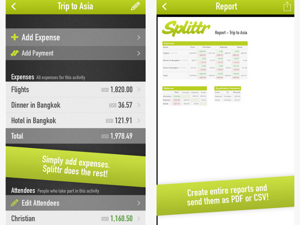 App Splittr - Travel cost sharing made easy
