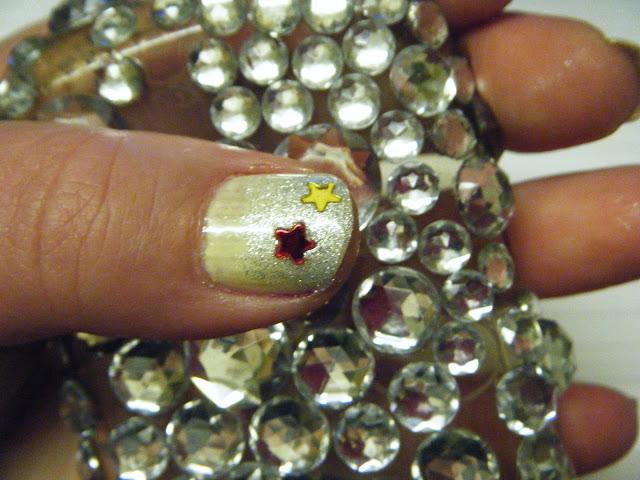 Lemon Sherbert Glitter Gradient Sequin Manicure