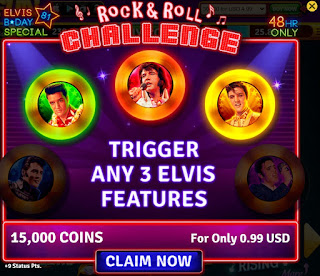 Rock & Roll Challenge for House of Fun Elvis Slots