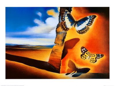 Salvador Dali Mariposas Coloring Page