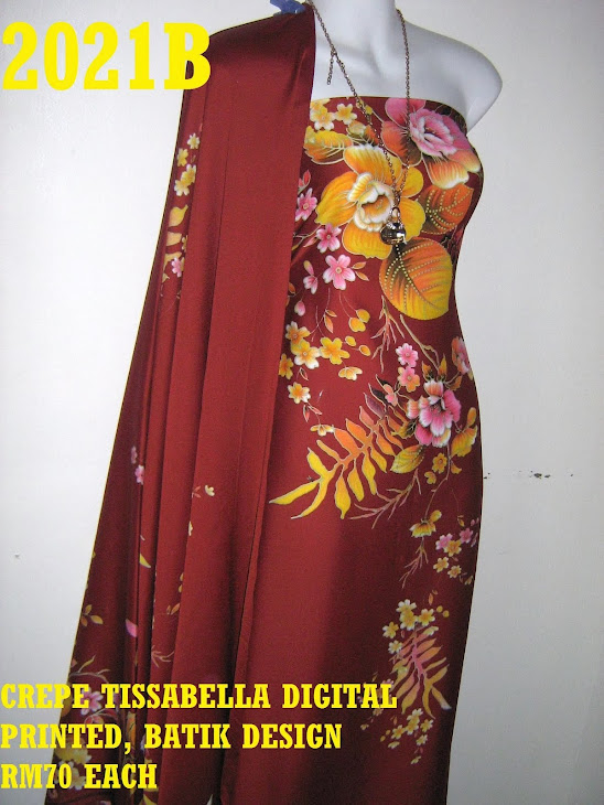 CTD 2021B: BATIK CREPE TISSABELLA DIGITAL PRINTED, EXCLUSIVE DESIGN, 4 METER