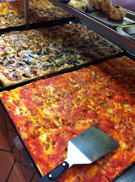 """Tomato pie """"Focaccia"""", pizza italian style"""