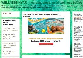 Nyári üdülési ajánlatok, wellness nyaralás: www.wellnessnyar.hu