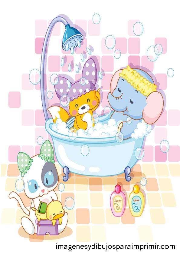 Imagenes infantiles de animales imagenes y dibujos para Banos infantiles fotos