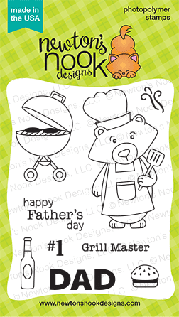 Winston's BBQ Stamp set by Newton's Nook Designs