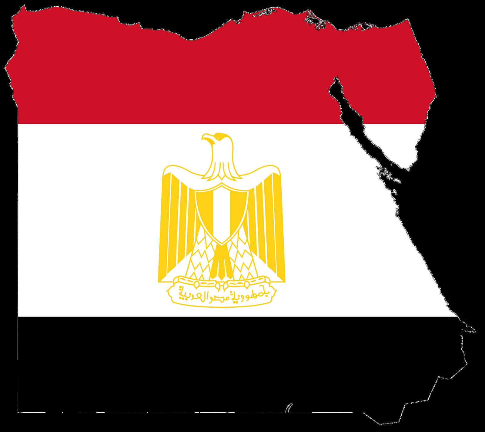 Egypt Flag Map Icon Clipart