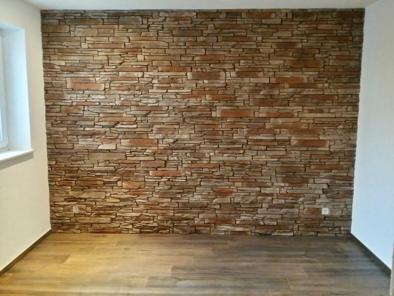 Baublog - Wir bauen in Neesbach: Bruchsteinwand in der Bar