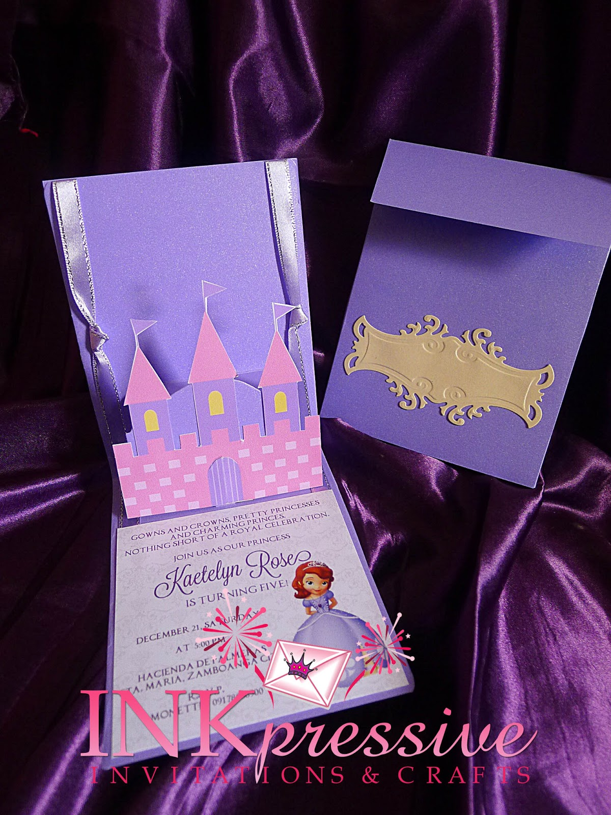 Princess Sofia Theme Invitation | INKPRESSIVE INVITATIONS
