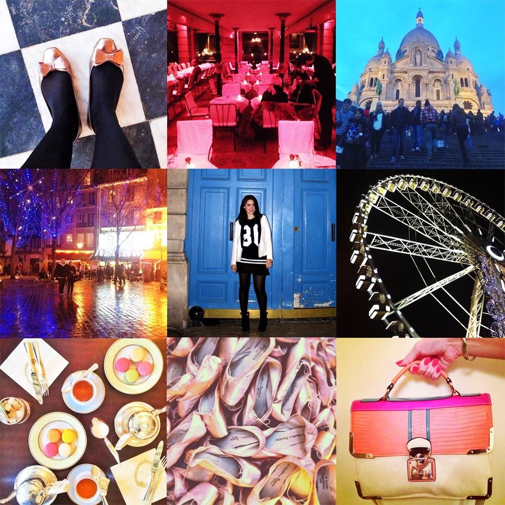 Fashion blogger Emma Louise Layla Instagram photos in Paris