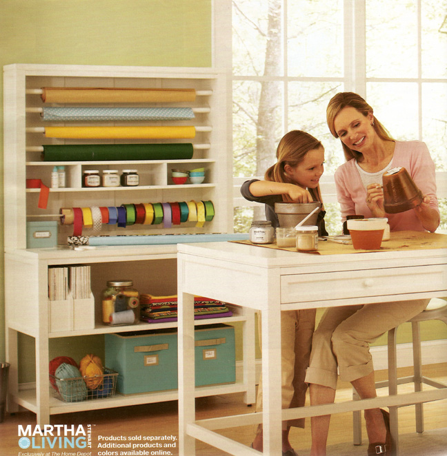 Martha moments s craft space collection at home depot