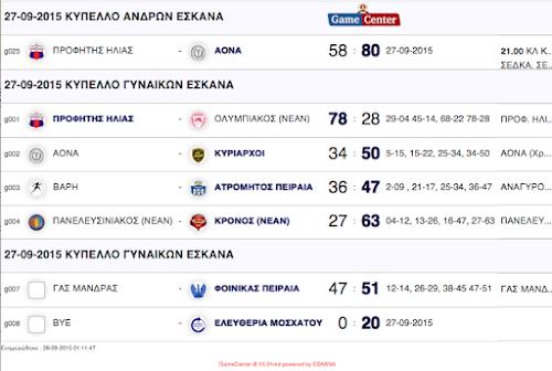 Όλα τα αποτελέσματα του Κυπέλλου 27.09.2015 και οι αγώνες της επόμενης φάσης