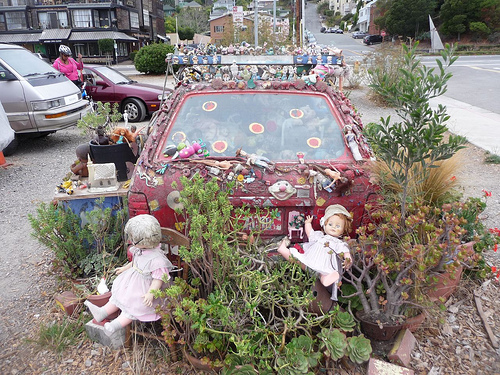 Sausalito Garden Art Car Gets New Life by Heather Wilcoxon