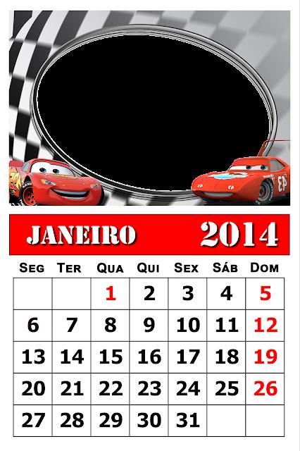 Calendário para 2014 de bloco com moldura