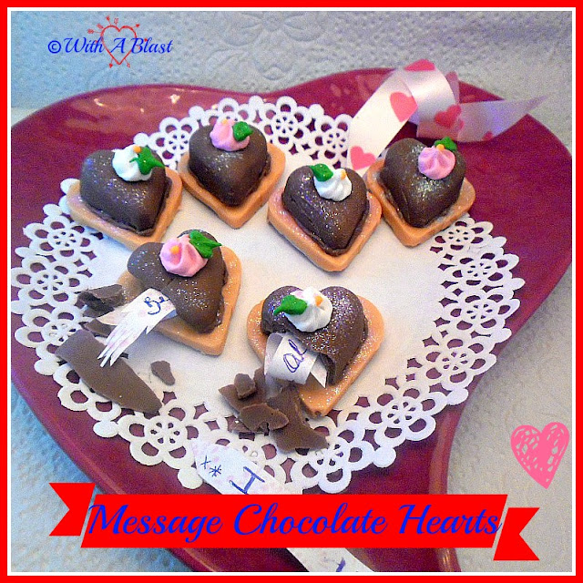 Message Chocolate Heart