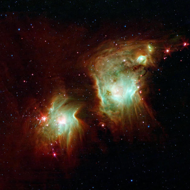 Spitzer Telescope image of Reflection Nebula M78 in Orion