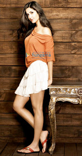 Katrina Kaif Hot New Look in Orange Photoshoot 2013