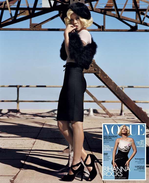 Beauty Rihanna Hairstyles on Vogue UK November 2011