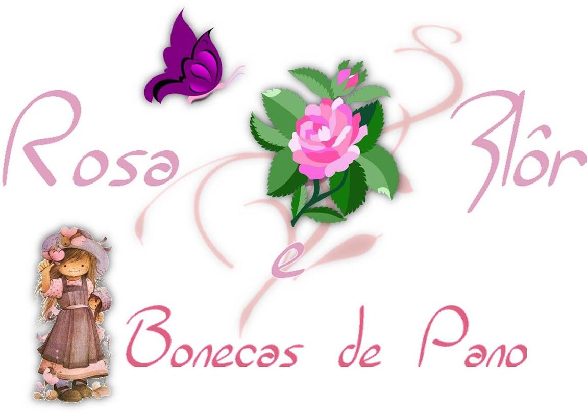 Rosa e Flôr Bonecas de Pano
