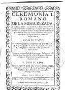Ceremonial Romano (I)