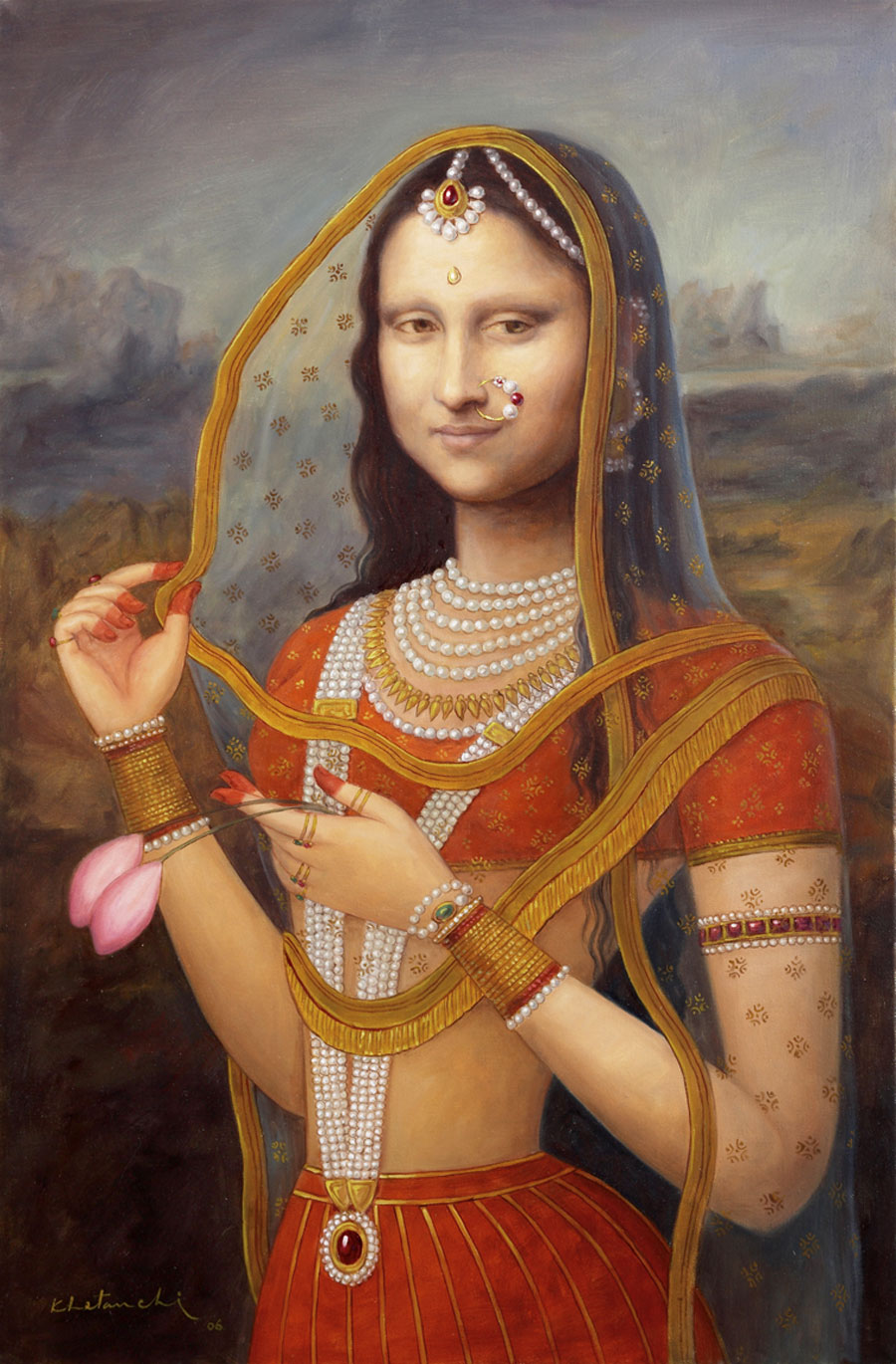 I am just a visual person bani thani dressing up mona for Buy art online india