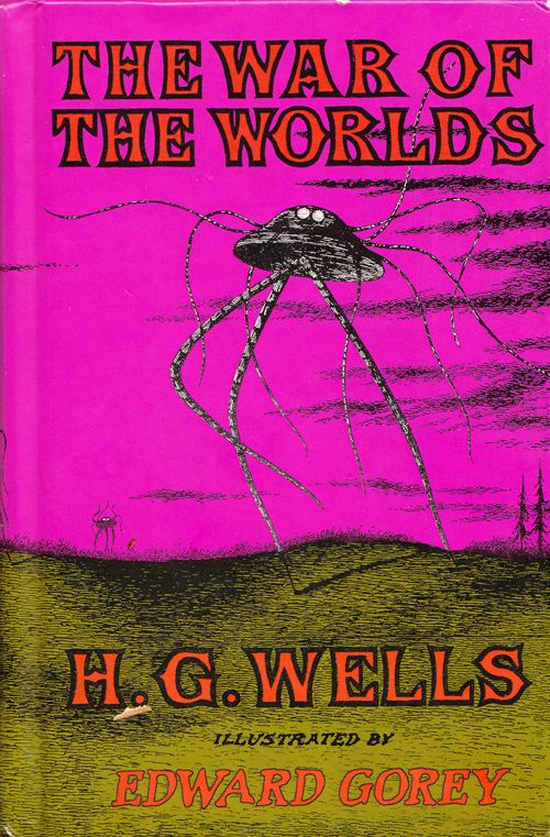 What is the effect of the anonymous narrator in War of the Worlds by Wells?