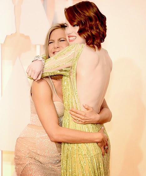 Jennifer Aniston & Emma Stone, Oscars 2015